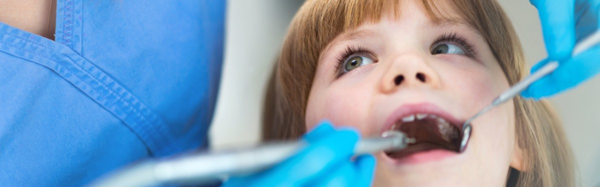 Young child at dentist